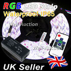 1M 2M 3M 4M 5M 5050 IP65 RGB SMD LED Strip + 10 Keys RF Remote Controller + PSU