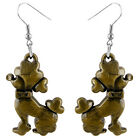 A022 Cute Poodle Earrings U pick iron or Stainless Steel hook&circle New Arrive