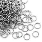 Wholesale Lots Jump Rings Jewelry Making Findings Silver Tone 6x0.7mm