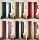 Thermal Lined Eyelet Curtains Ready Made Ring Top Blockout Curtain Pairs Dim Out