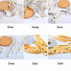 100pcs Silver/Gold/Nickel/Copper Smooth Curved Tube Spacer Beads for Jewelry DIY