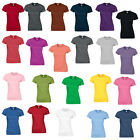 New GILDAN Womens Ladies Soft Style Cotton Fitted T Shirt 23 Colours Size 10-18