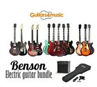 BRAND NEW BENSON ELECTRIC GUITAR PACKAGE AND AMPLIFIER (OPTION) PACK FROM £69.95