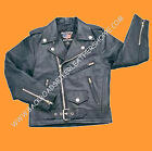 Allstate Leather Child Kid Boy Girl Black Lambskin Soft L...