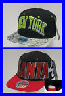City Hunter USA - NY New York - Atlanta - SNAPBACK Flat Peak Cap Hat Snap Back