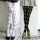 Cat Tail Pantyhose Tights Stockings Paris Cosplay Tattoo Patterned Spandex Cute.