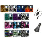 For iPod Classic Color Design Snap-On Hard Rubberized Case Cover+Aux+Charger