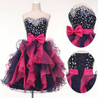 Stylish Girl Short Mini Party Top Sequins Skirt Layers Prom Party Cocktail Dress