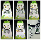 HOT Free 100% Real Lucky Clover Resin Mosaic Rhinestone Lovers Pendants Necklace