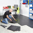 Interlocking Vinyl Floor Tiles Flooring Heavy Duty Gym Garage Schools Workshop