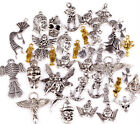 100g(About 80pcs) Tibetan SIlver Lots Mixed Angel Fairy People Charms Pendants