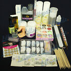 Professional Nail Art Acrylic Powder Liquid Primer Tips Practice Tool Full Kit