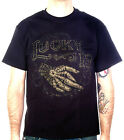 Lucky 13 shirt crossed zombie hand rockabilly psychobilly tattoo black S-4XL