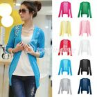 Candy Lace Crochet Knit Blouse Cardigan Shirt Coat Sweater Tops