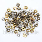 High Quality 400pcs Tibetan Antique Silver/Golden/Bronze Daisy Spacer Bead 4mm