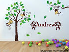 PERSONALISED NAME in Safari Park Scene Kids / nursery wall sticker