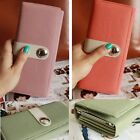 Womens Ladies Colored Leather Clutch Wallet Purse Long Handbag Bag Phone Pocket