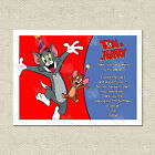 Personalised Tom and Jerry Cat Mouse Matching Thank You Cards Inc. Envelope