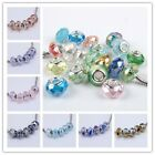 Fashion Style 29 Color Murano Glass Crystal Big Hole European Beads Fit Bracelet