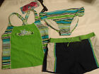 ZeroXposur Plus 18 1/2 3-Piece Swimsuit Set Panty Short Tankini Free Goggles NWT