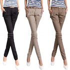 Narrow Womens Bootcut Straight Leg Trousers Cargo Pants AU 6 8 10 12 14