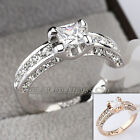A1-R3058 Princess Cut 1.26cts Engagement Wedding Ring 18KGP Swarovski Crystal