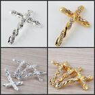 Wholesale Fashion Enamel Cross Connector DIY Fit Bracelets Charms Findings Beads
