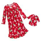 JUMPING BEANS Girl's Size 4, 5, 6, OR 7 Christmas Kitty Matching Doll Gown Set