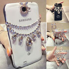 New Drop Necklace Diamond Bling Case Cover For Samsung Note 7 5 S7 iphone 7 6S