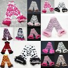 ANIMAL GIRAFFE ZEBRA LEOPARD Print Baby Girl Cotton Ruffles Leg Warmer Legging