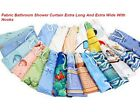 Fabric Shower Curtains 180X200CM Hooks ,Included,High quality polyester,New