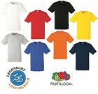 Free P&P New Fruit of the Loom Heavy Cotton Plain Blank Short Sleeve T Shirt Tee