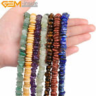 "2-4x8-12mm Natural Stone Chips Loose Beads 15"" Jewelry Making Gemstone Beads"