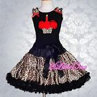 2pc Leopard Pettitop Top Pettiskirt Skirt Petticoat Tutu Party Girl Size 2-8 103