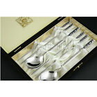 Korean stainless steel chopsticks spoon gift set in velvet box - 2 designs
