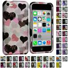 Design Color Hard Snap-On Rubberized Case Cover Accessory for Apple iPhone 5C