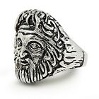 New Stainless Steel Greek Literature Mythology Zeus Men's Ring - Sizes 9-15
