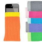 NEW 6 X MULTI-COLOR SOCKS CASE SOFT COVER BAG PROTECTIVE POUCH FOR MOBILE PHONES