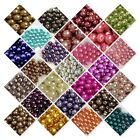 400 X 4 Mm / 200 X 6mm / 100x 8mm / 50x 10mm Glass Pearl Beads 30 Various Colour