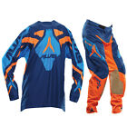 ALIAS A1 Motocross Hose + Jersey 2014 navy-neon-orange Motocross Enduro Cross
