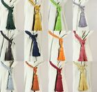 Pair Cotton Tassel Rope Curtain Tiebacks Tie Backs 12 Colours NEW