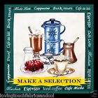 COFFEE CUP POTS ESPRESSO LATTE DESSERT GRINDER FABRIC PANELS  (MAKE A SELECTION)