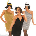 Sexy Charleston Flapper Fringed Gatsby Ladies Fancy Dress Costume 1920 20s 30s