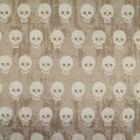 Spooky Skulls in Weathered Effect Rows Halloween 100% Cotton Patchwork Fabric