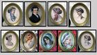 dolls house miniature 1:12 people paintings gold oval frame 9 to choose.