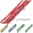 """4MM ROUND CRAZY LACE AGATE GEMSTONE BEADS STRAND 15"""",RED&BLUE&GREEN&SKY-BLUE"""