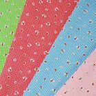 Strawberries On Gingham Polycotton Fabric