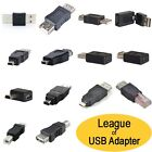 USB Type A Type B Mini B Micro B RJ45 Male Female Adapter...