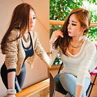Hot Fashion Women Girl Sexy Mesh Slim Long Sleeve T-shirt Tops Blouse Pullover S