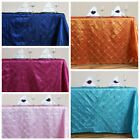 """90"""" x 156"""" PINTUCK Tablecloth Wedding Party Banquet Catering Designer Linens"""